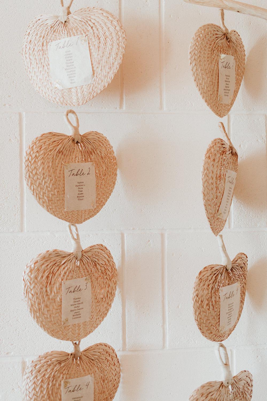 plan de table decoration mariage exotique bord de mer tropical nantes