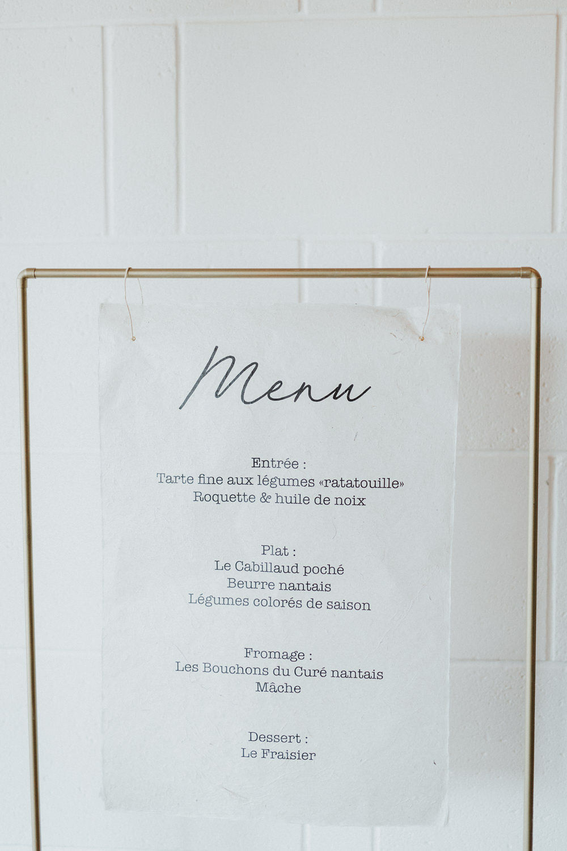 menu mariage nantes