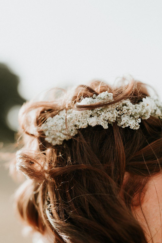 couronne de fleurs mariage champetre