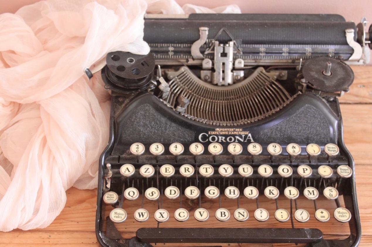 machine à écrire décoration vintage mariage pays de la loire