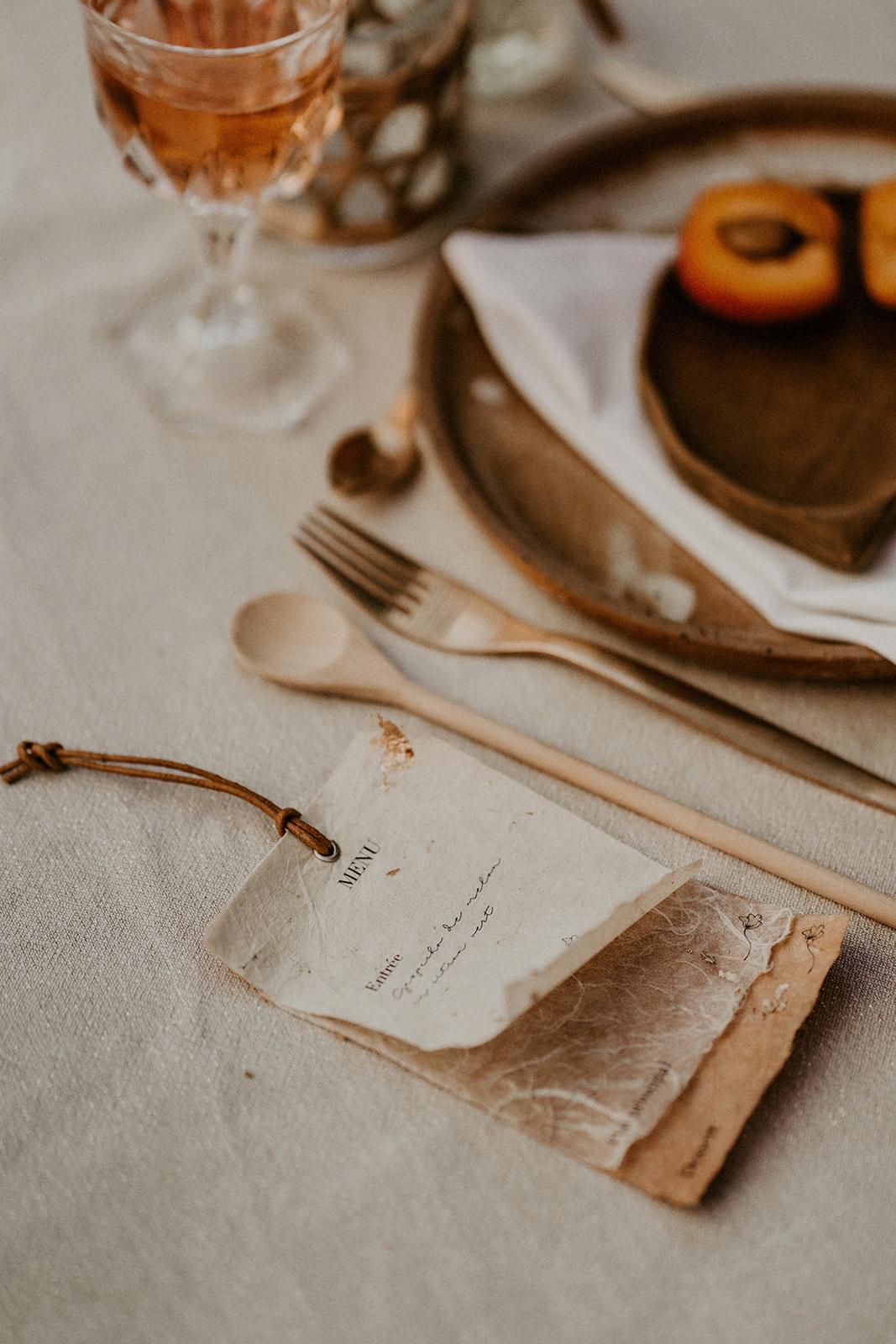 menu papier papeterie faire part mariage nantes