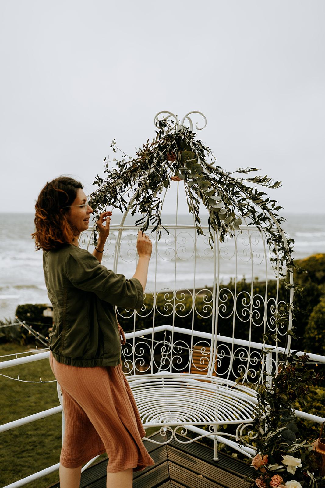 Décoration florale inspiration jardin anglais mariage Pays de la Loire