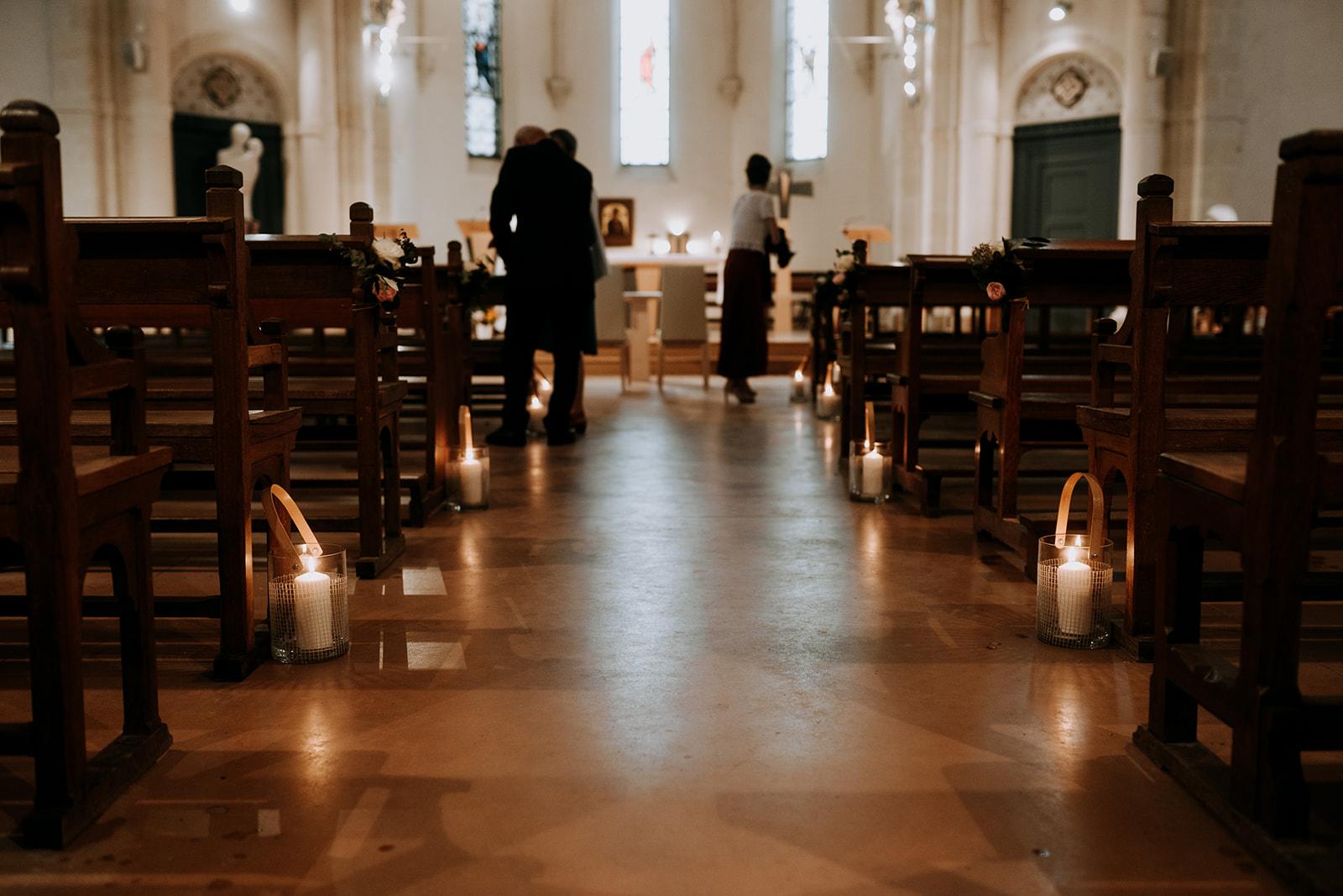 décoration de mariage église Loire Atlantique