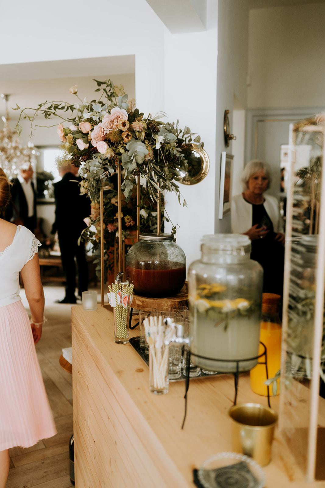 decoration Buffet de mariage cocktail élégant naturel