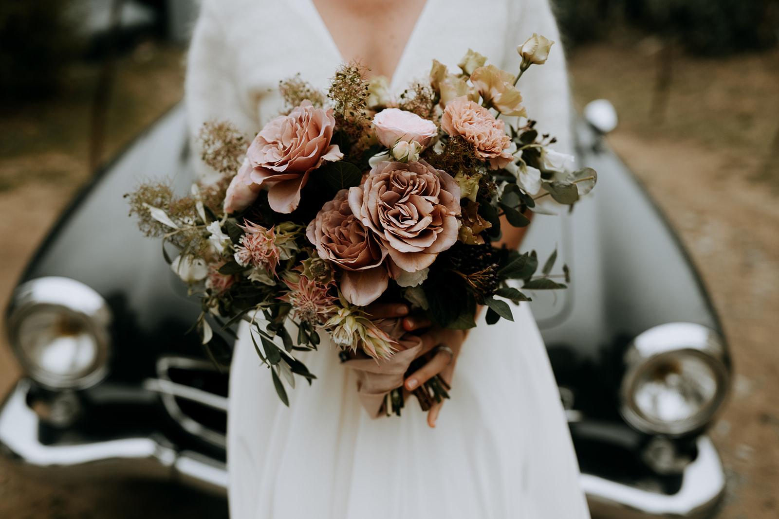 bouquet de mariee naturel champêtre fleuriste nantes
