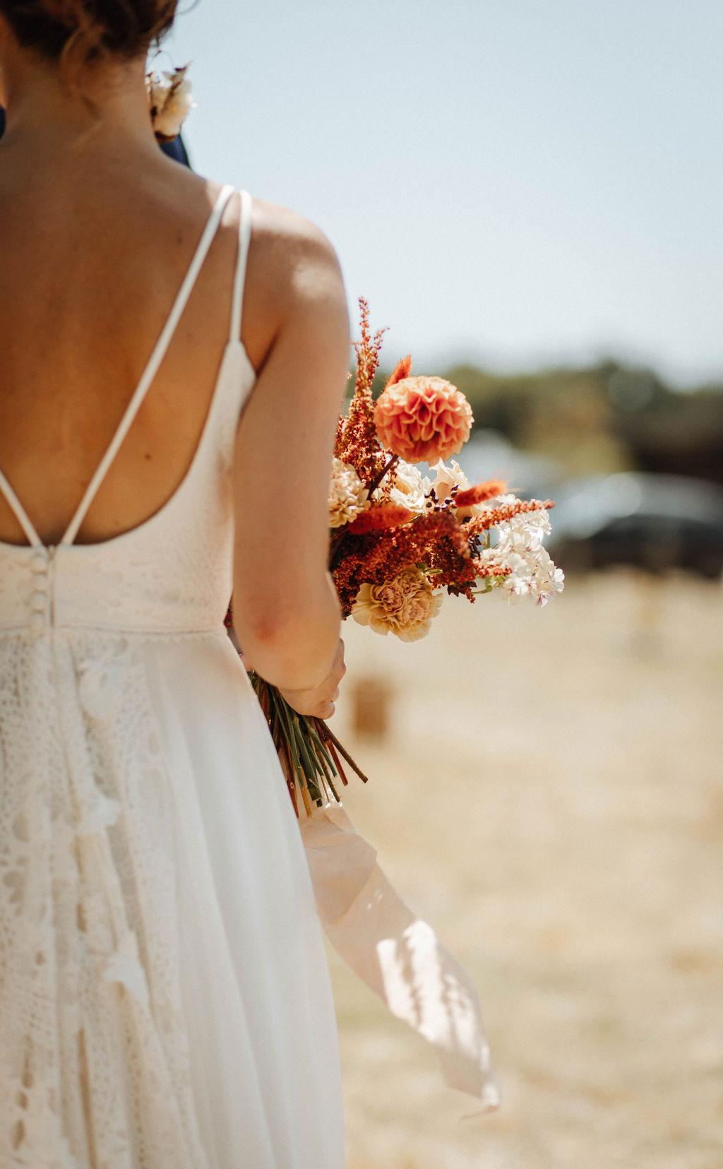 bouquet de mariee moderne ecoresponsable mariage vendee nantes