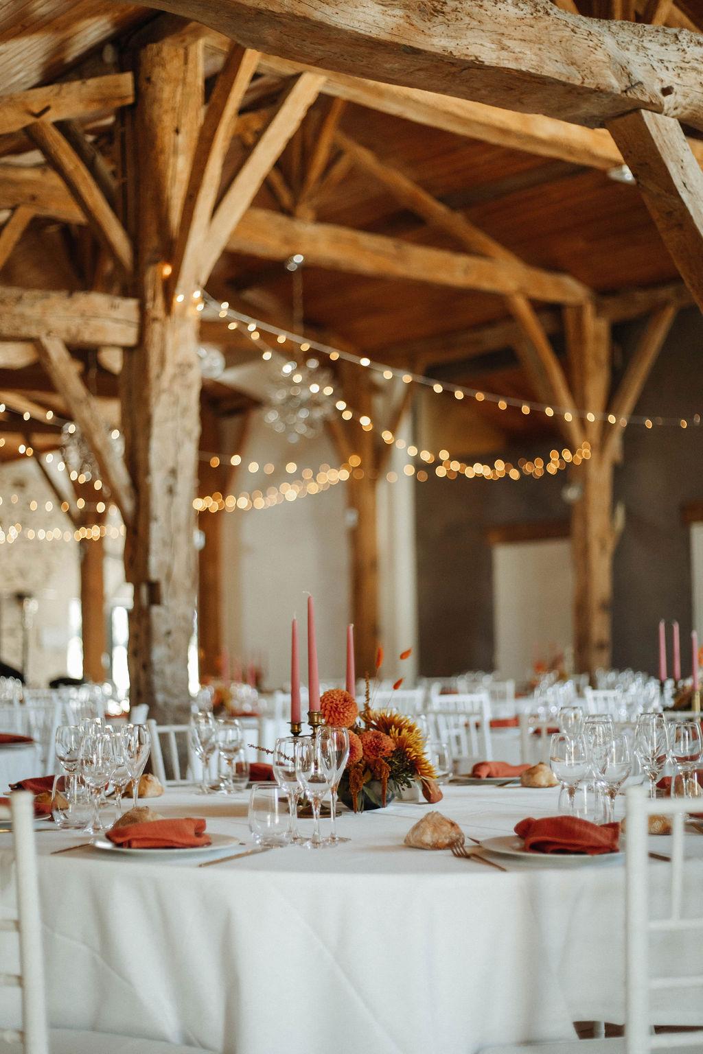 decoration salle de mariage décoratrice nantes vendee