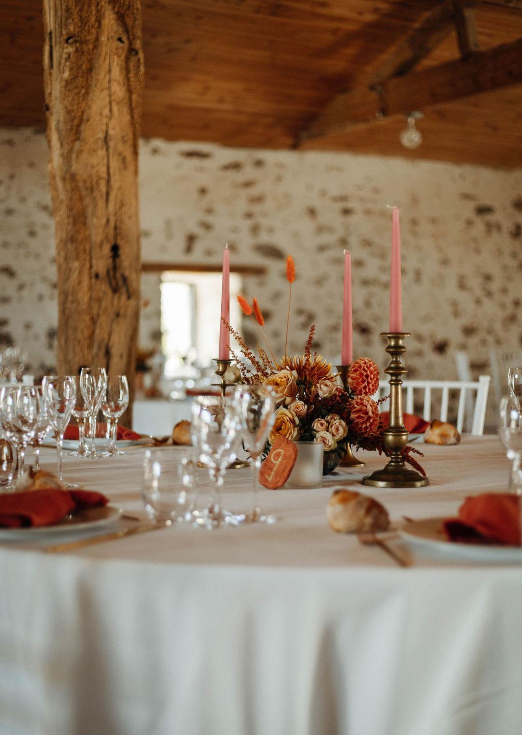 decoration de salle mariage boheme vendee
